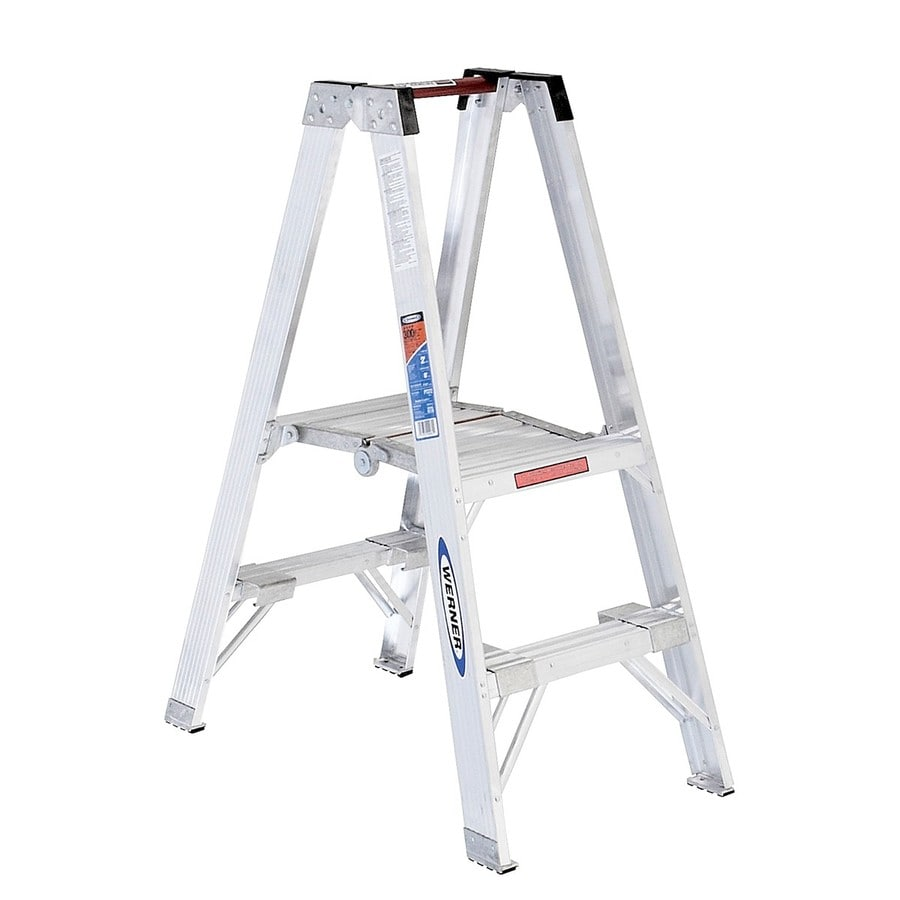 Werner 2-ft Aluminum Type 1A - 300 lbs. Stocker's Step Ladder