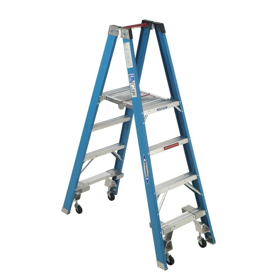 Werner 4-ft Fiberglass 250-lb Type I Stocker's Ladder
