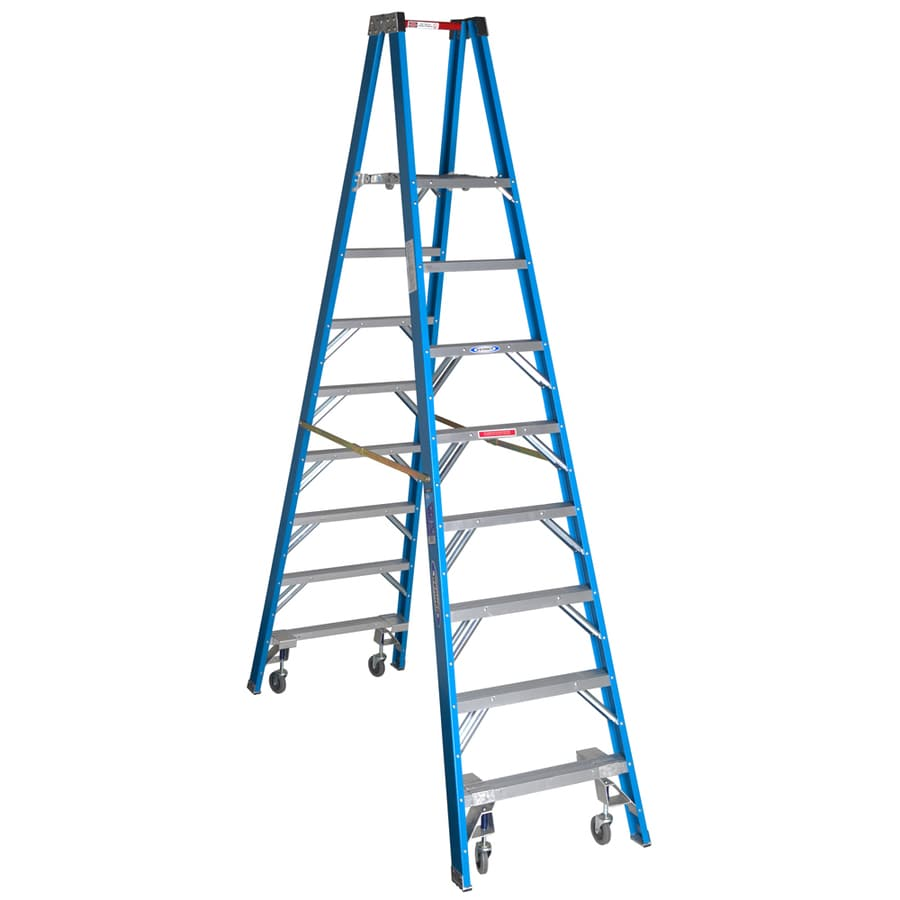 Shop Werner 8 Ft Fiberglass 250 Lb Type I Stocker S Ladder