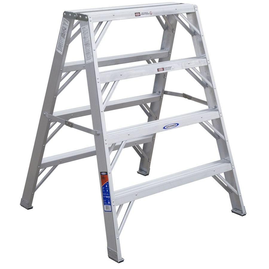 Werner 4-ft Aluminum 300-lb Type IA Twin-Step Ladder
