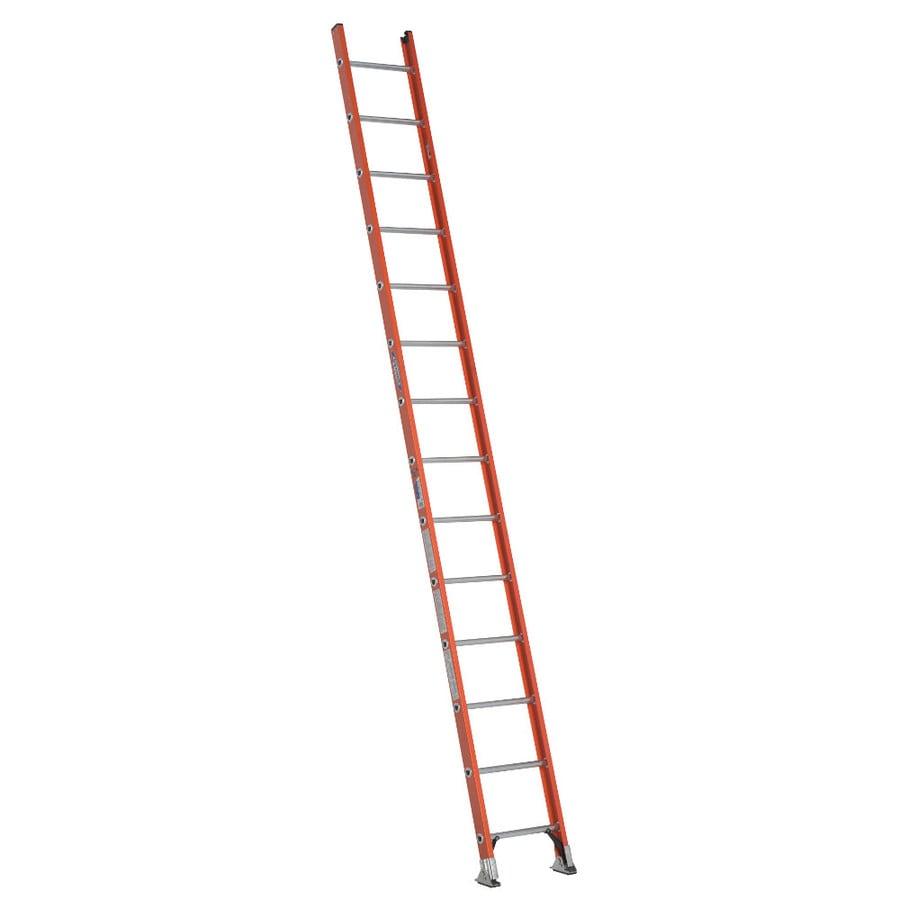 Werner 14-ft Fiberglass 300-lb Type IA Straight Ladder