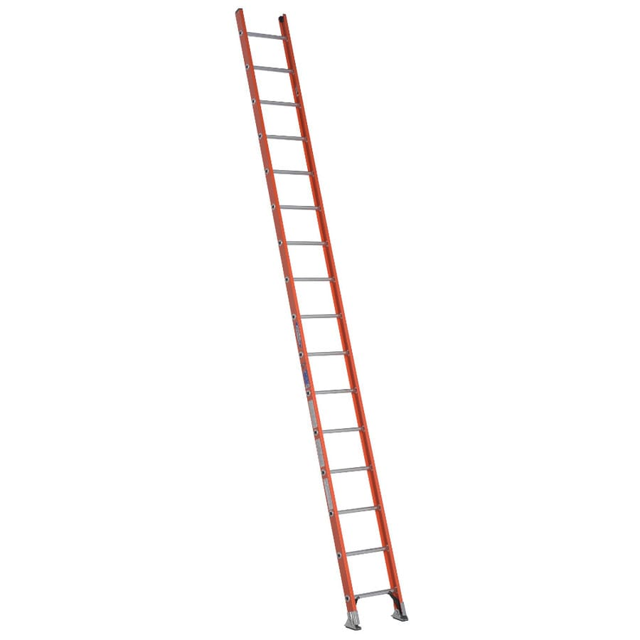 Werner 16-ft Fiberglass 300-lb Type IA Straight Ladder