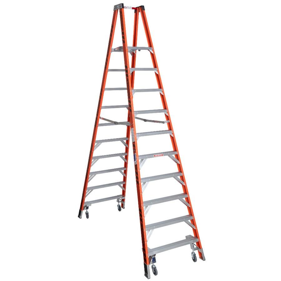 Werner 10-ft Fiberglass 300-lb Type IA Stocker's Ladder
