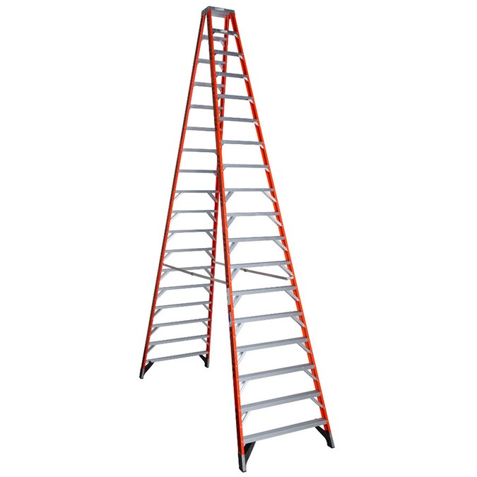 Werner T7400 18 Ft Fiberglass Type 1a 300 Lbs Capacity Step Ladder In The Step Ladders Department At Lowes Com