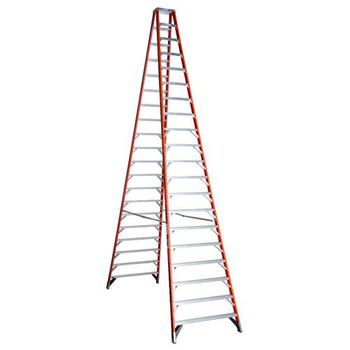 Werner T7400 20 Ft Fiberglass Type 1a 300 Lbs Capacity Step Ladder In The Step Ladders Department At Lowes Com