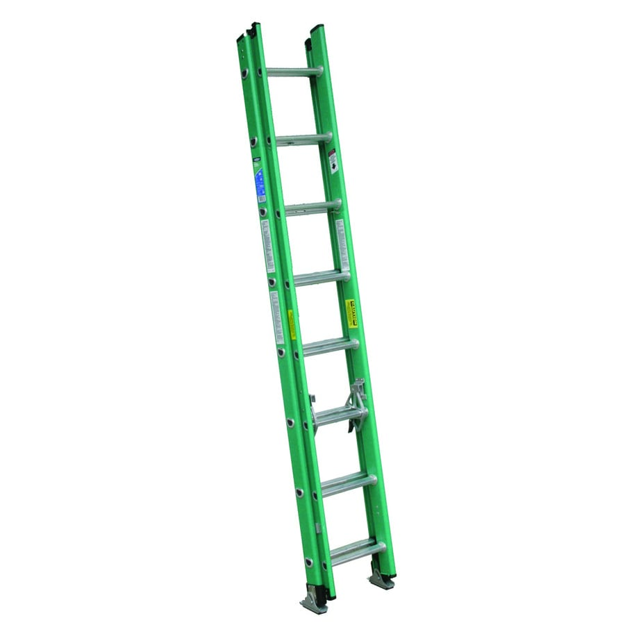 Werner 16-ft Fiberglass 225-lb Type II Extension Ladder