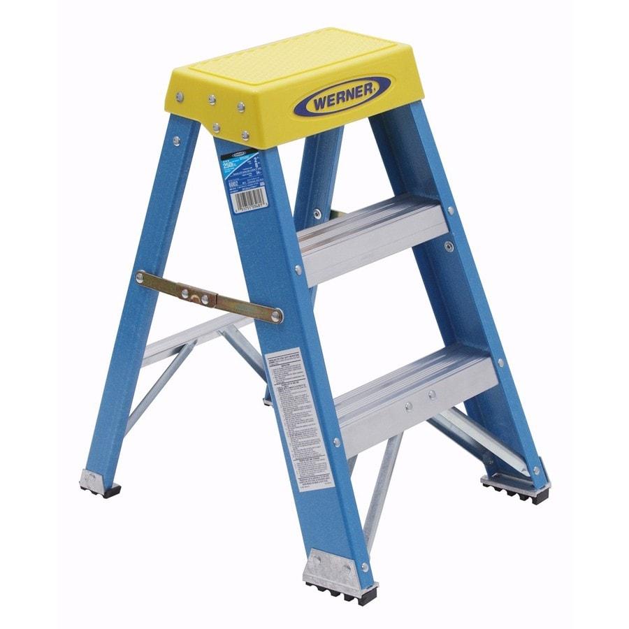 Werner 2-ft Fiberglass Type 1 - 250 lbs. Step Ladder