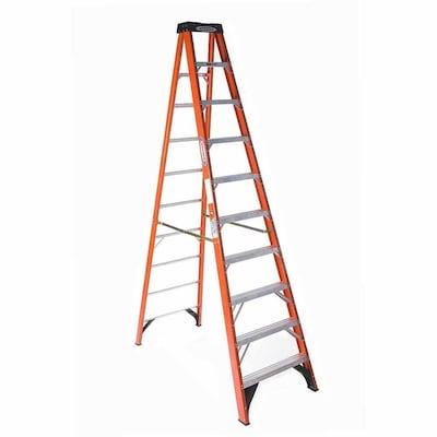 Marvelous Nxt 10 Ft Fiberglass Type 1A 300 Lbs Capacity Step Ladder Uwap Interior Chair Design Uwaporg