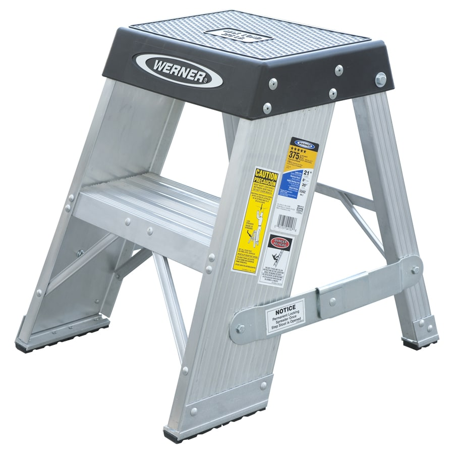 Werner 2-ft Aluminum 375-lb Type IAA Step Ladder
