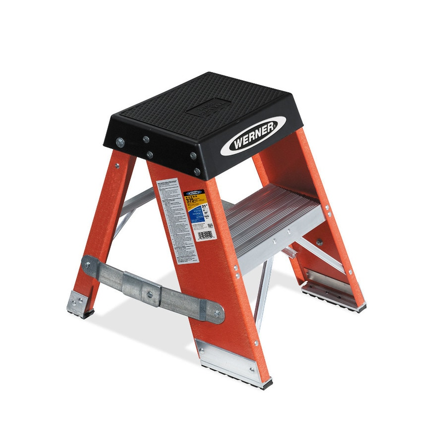 Werner 2-ft Fiberglass 375-lb Type IAA Step Ladder