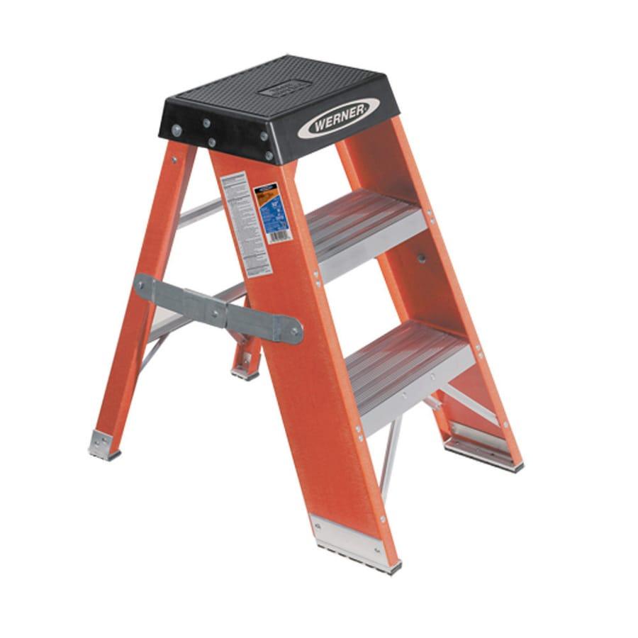 Werner 3-ft Fiberglass 375-lb Type IAA Step Ladder