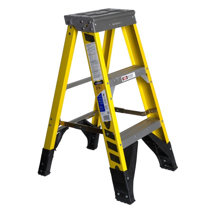 Werner 3-ft Fiberglass Type 1AA - 375 lbs. Step Ladder