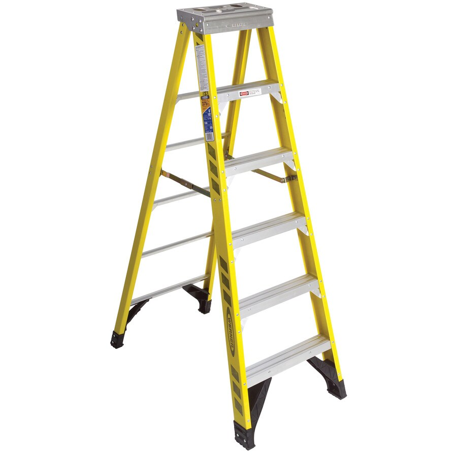Werner 6-ft Fiberglass Type 1AA - 375 lbs. Step Ladder