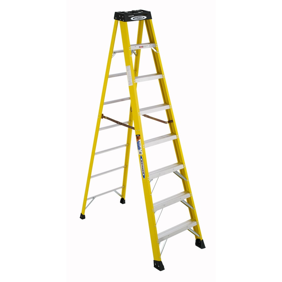 Shop Werner 8 Ft Fiberglass Type 1a 300 Lbs Step Ladder