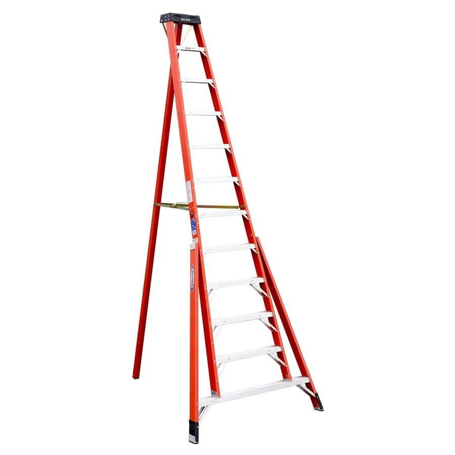shop werner 12 ft fiberglass type 1a 300 lbs tripod step ladder at. Black Bedroom Furniture Sets. Home Design Ideas