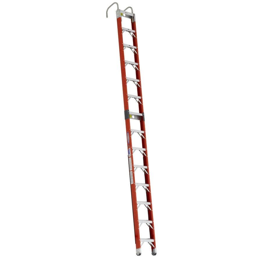 Werner 14-ft Fiberglass 300-lb Type IA Posting Ladder