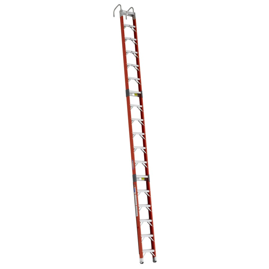 Werner 18-ft Fiberglass 300-lb Type IA Posting Ladder