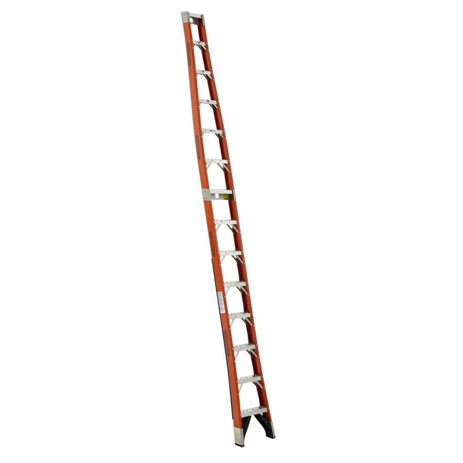 Werner 14-ft Fiberglass 300-lb Type IA Posting Ladder