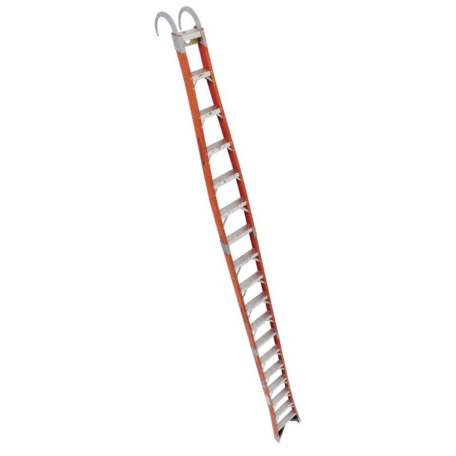 Werner 18-ft Fiberglass 300-lb Type IA Posting Ladder