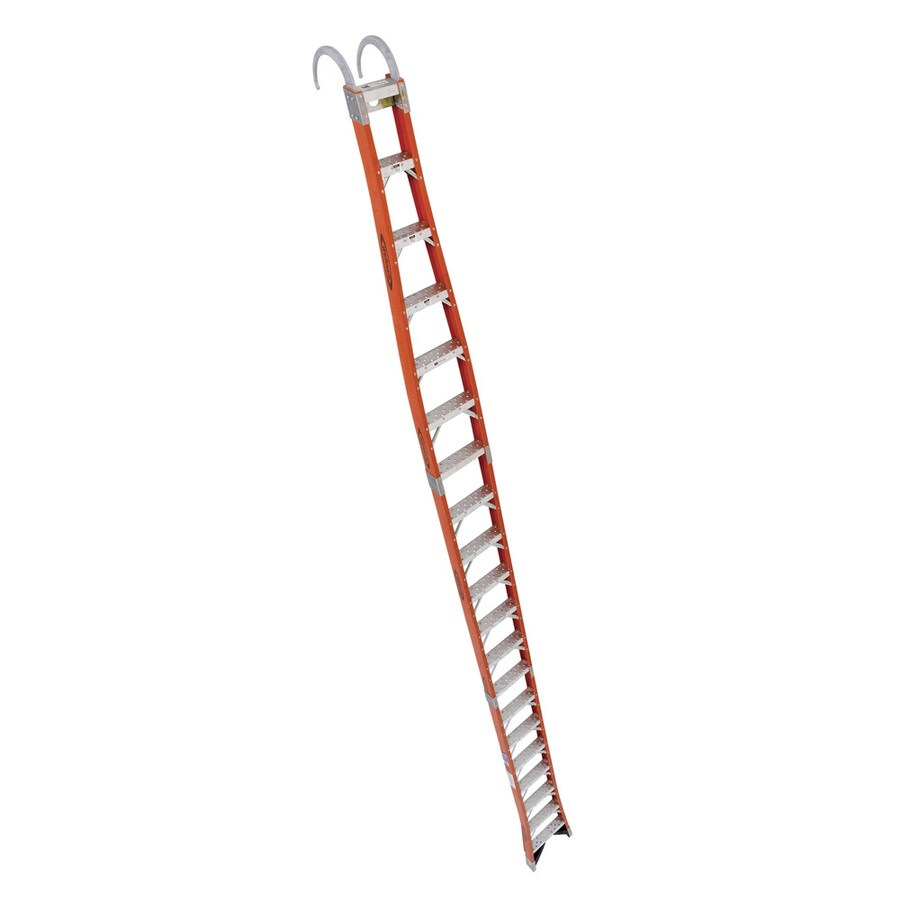Werner 20-ft Fiberglass 300-lb Type IA Posting Ladder