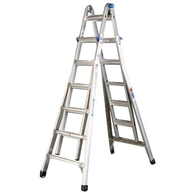 Mt Aluminum 26 Ft Reach Type 1a 300 Lbs Capacity Telescoping Multi Position Ladder