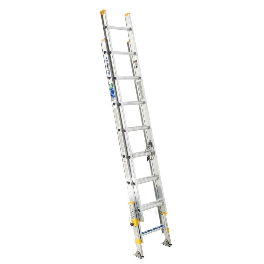 Werner 16-ft Aluminum 225-lb Type II Extension Ladder