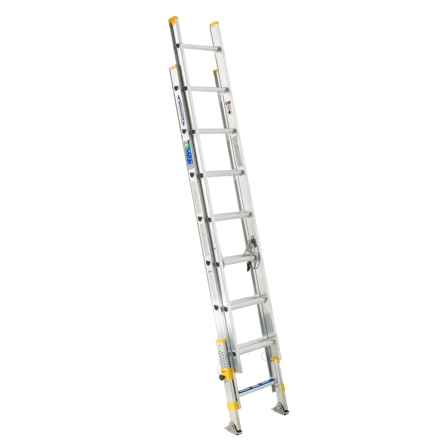 Werner 16-ft Aluminum 250-lb Type I Extension Ladder