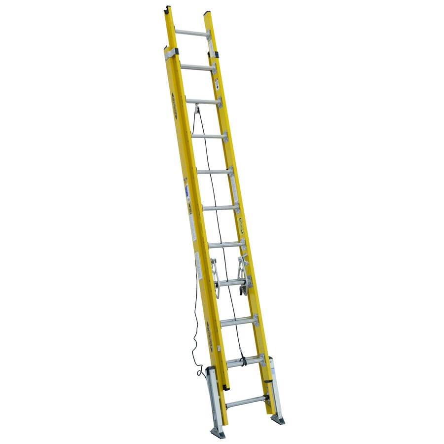 Werner 20-ft Fiberglass 375-lb Type IAA Extension Ladder