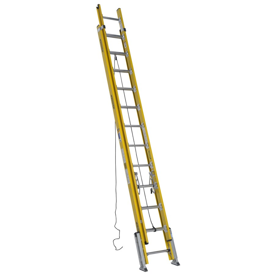 Werner 24-ft Fiberglass 375-lb Type IAA Extension Ladder