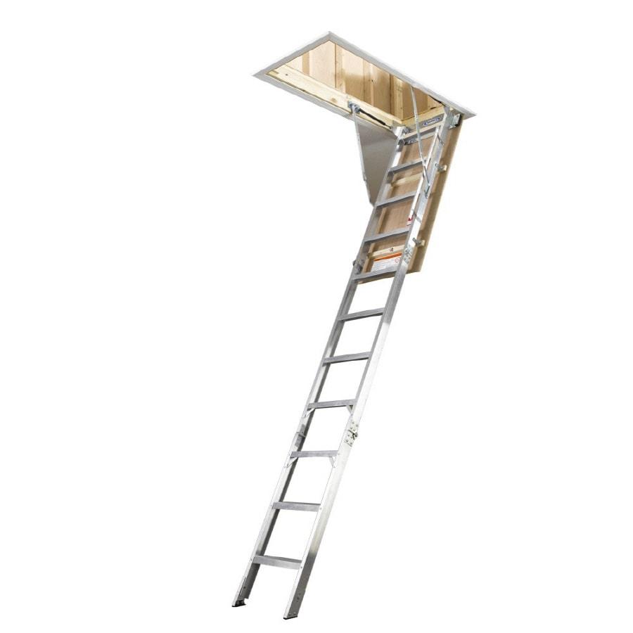 Werner 10 Ft Aluminum 300 Lb Type Ia Attic Ladder At Lowes Com