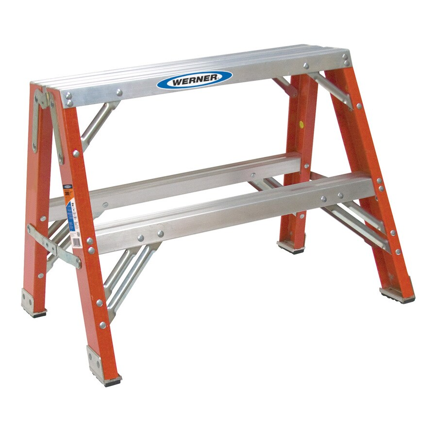 Werner 2-ft Fiberglass 300-lb Type IA Step Ladder