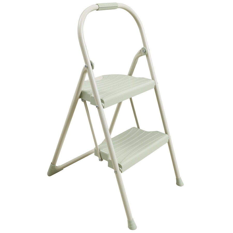 Werner 2-Step 225-lb Beige Steel Step Stool