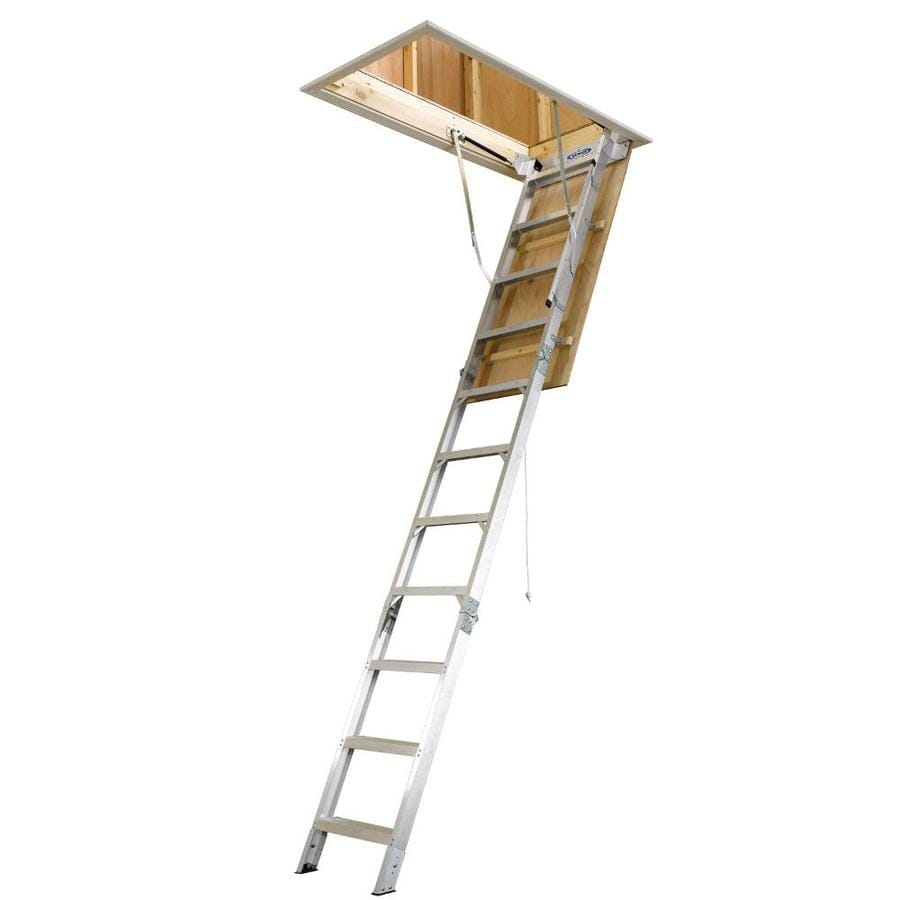 Werner AH 10.41 Ft To 12 Ft Aluminum Folding Attic Ladder