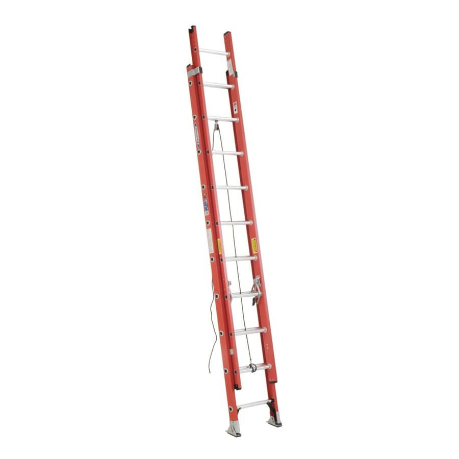 Werner 20-ft Fiberglass 300-lb Type IA Extension Ladder