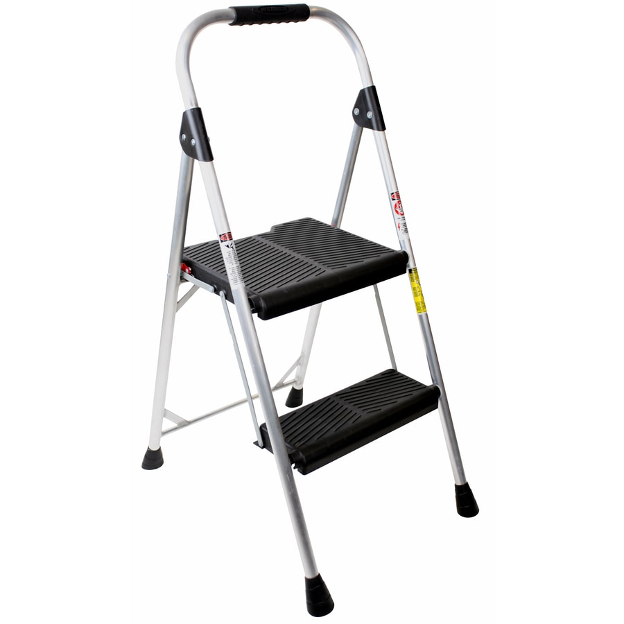 Shop Werner 2 Step 225 Lbs Capacity Silver Aluminum