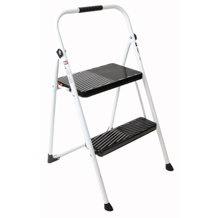 Werner 2-Step 200-lb White Steel Step Stool  sc 1 st  Loweu0027s : step stool - islam-shia.org