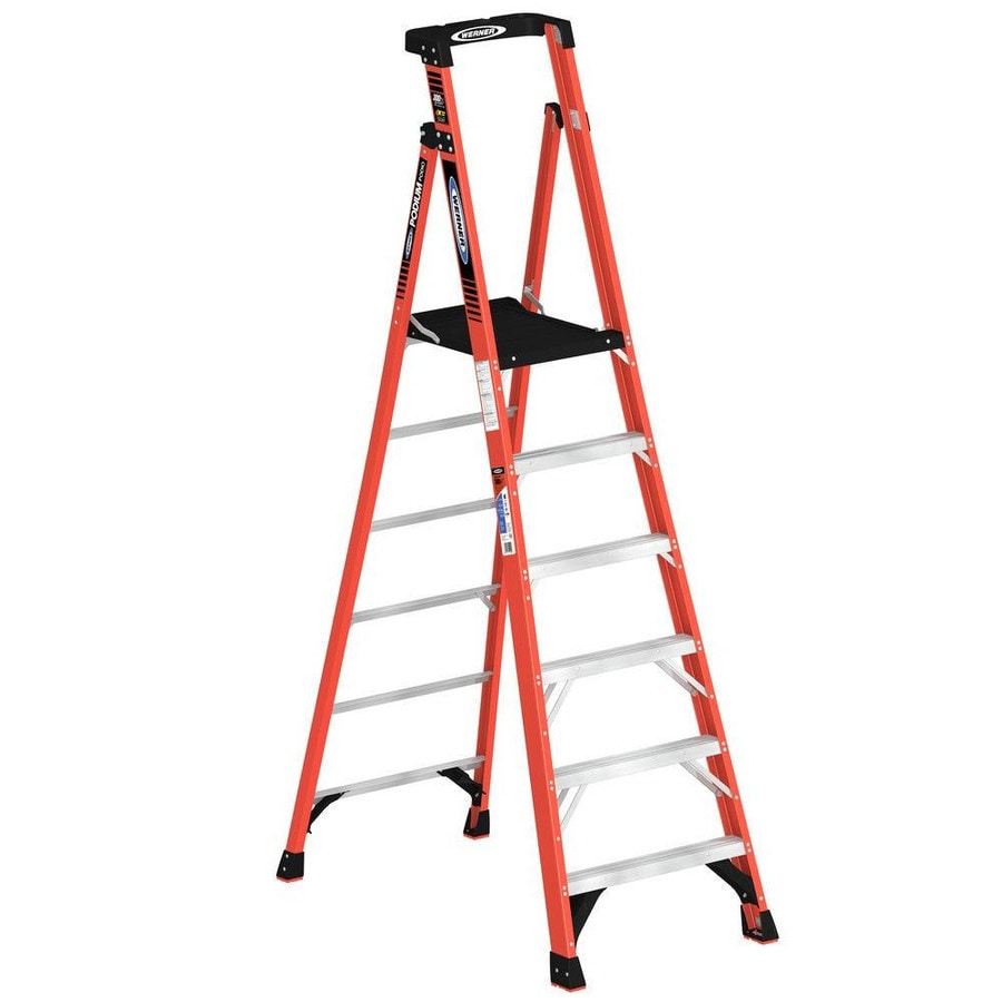Werner Podium 6-ft Fiberglass 300-lb Type IA Platform Ladder