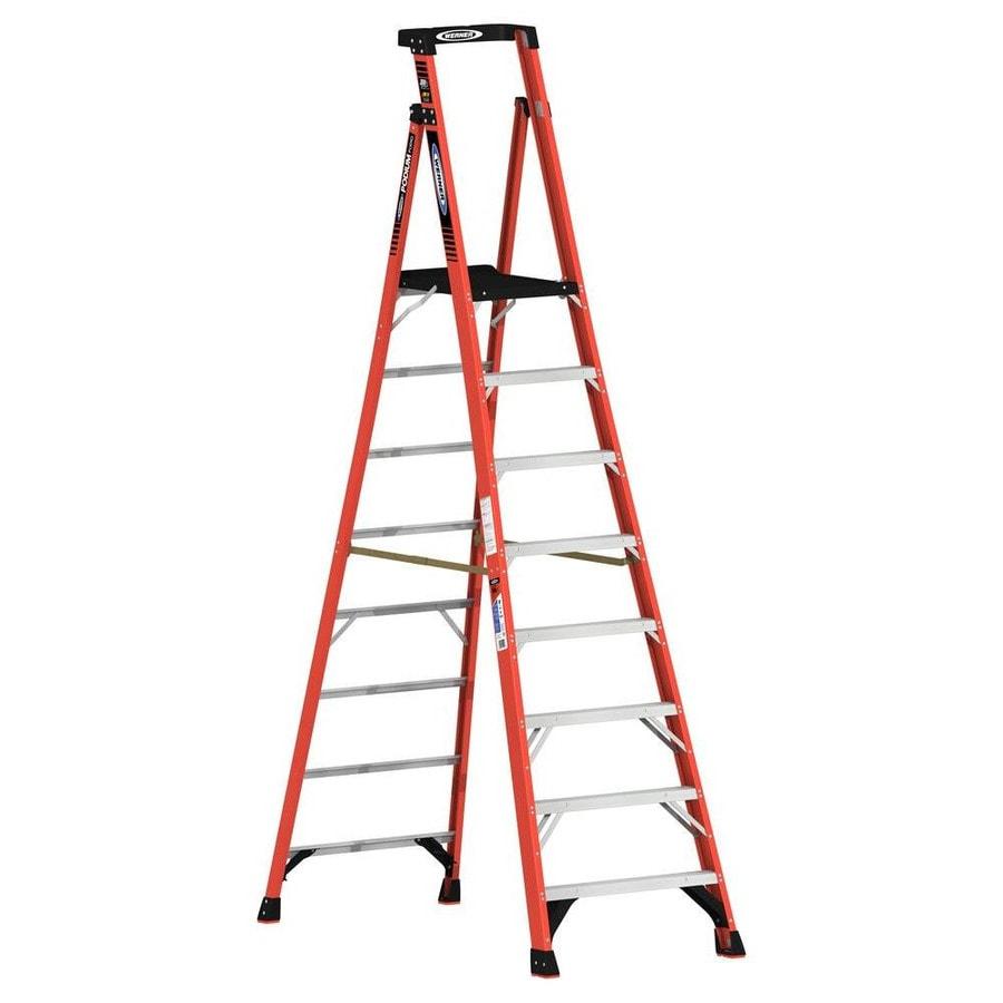 Werner 8-ft Fiberglass 300-lb Type IA Platform Ladder