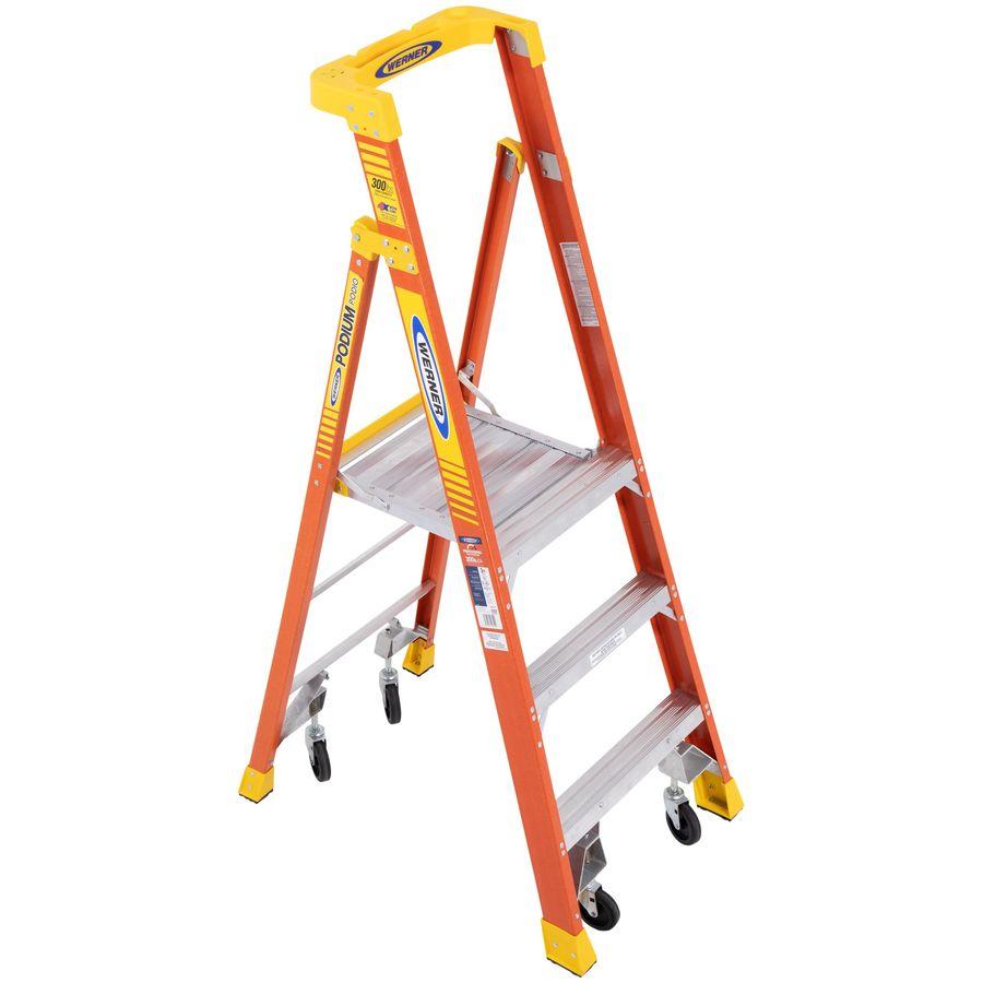 Werner Podium 3-ft Fiberglass 300-lb Type IA Platform Ladder
