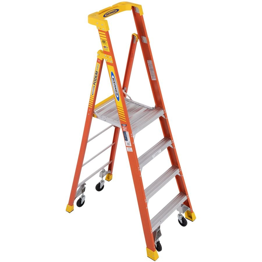 Werner Podium 4-ft Fiberglass 300-lb Type IA Platform Ladder