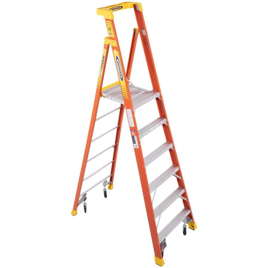 Werner 6-ft Fiberglass Type 1A - 300 lbs. Platform Step Ladder