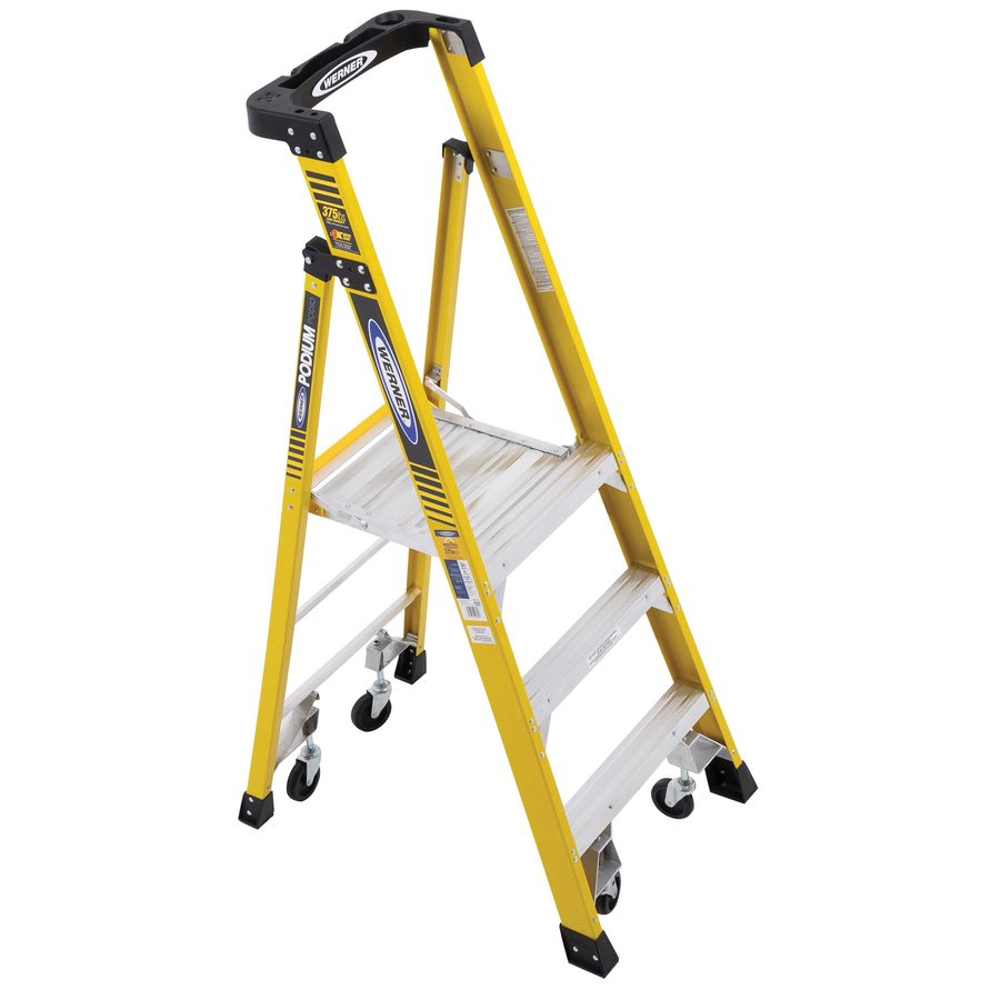 Werner Podium 3-ft Fiberglass 375-lb Type IAA Platform Ladder