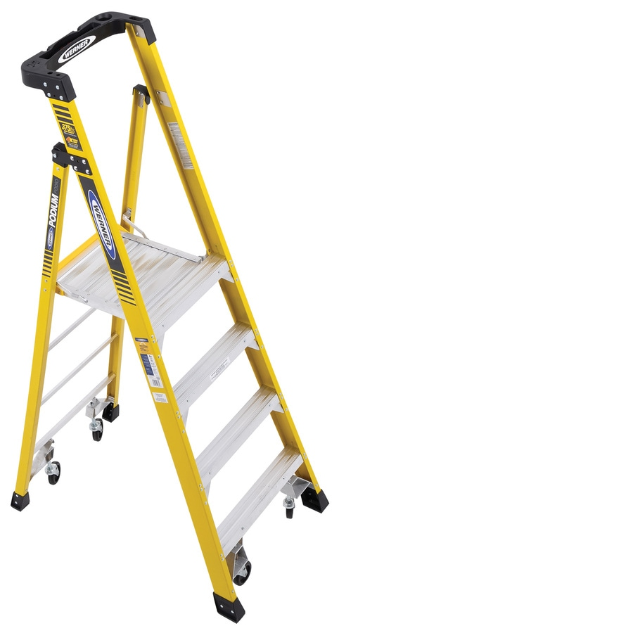 Werner Podium 4-ft Fiberglass 375-lb Type IAA Platform Ladder