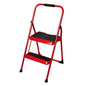Werner 2-Step 200-lb Cherry Red Steel Step Stool  sc 1 st  Loweu0027s : compact step stool - islam-shia.org