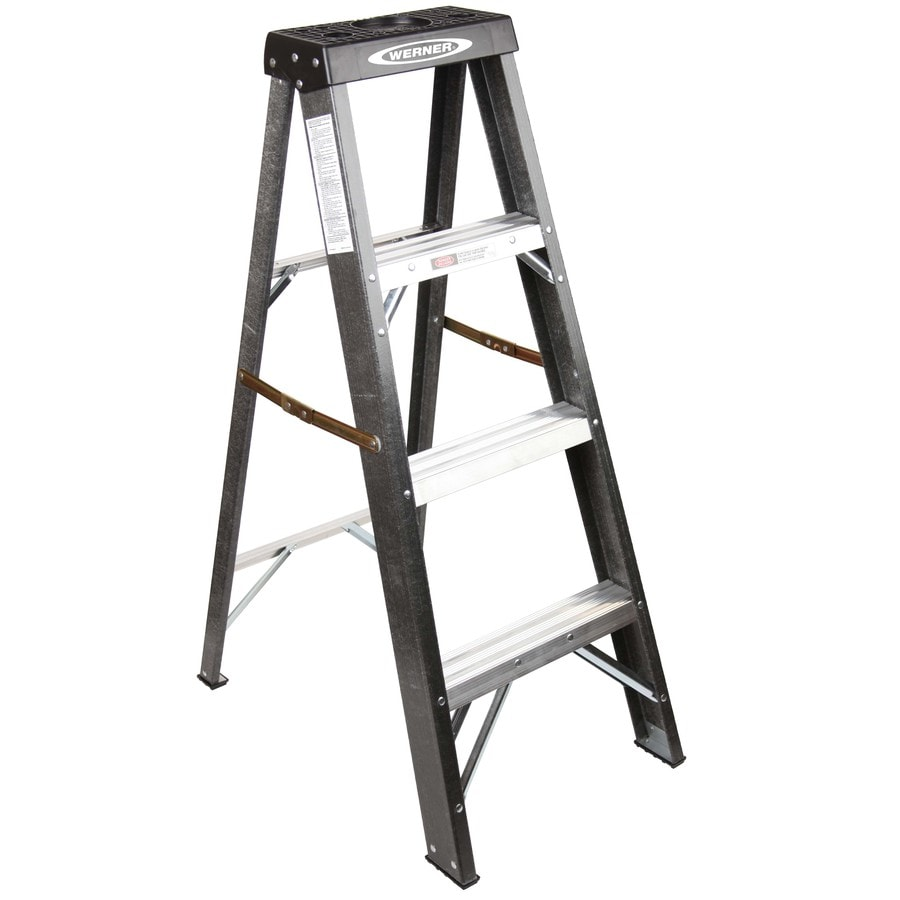 Werner 4-ft Fiberglass Type 2 - 225 lbs. Step Ladder