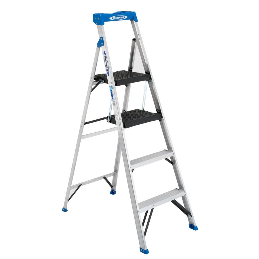 Werner Aluminum Type 1 - 250 lbs. Step Ladder