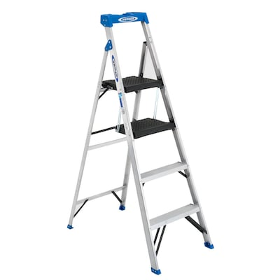 Awesome Acs380 5 5 Ft Aluminum Type 1 250 Lbs Capacity Step Ladder Caraccident5 Cool Chair Designs And Ideas Caraccident5Info