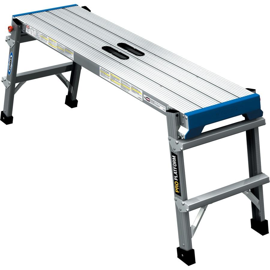 werner aluminum pro work platform at lowes com
