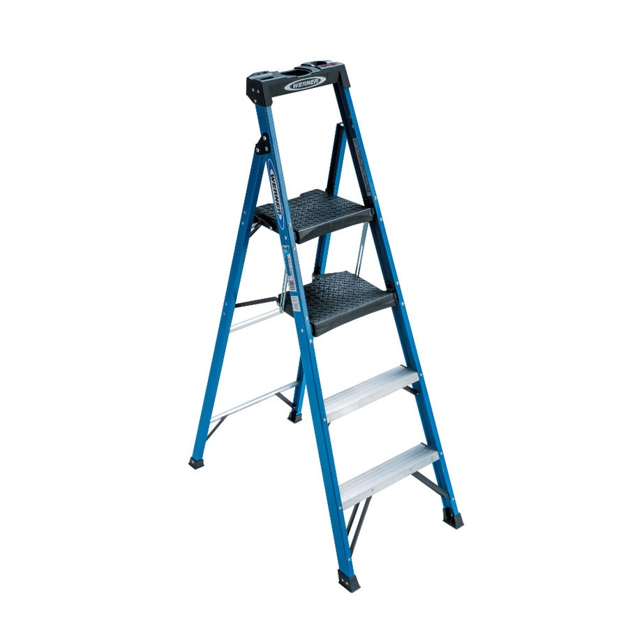 Shop Werner Fiberglass Type 1 250 Lbs Step Ladder At