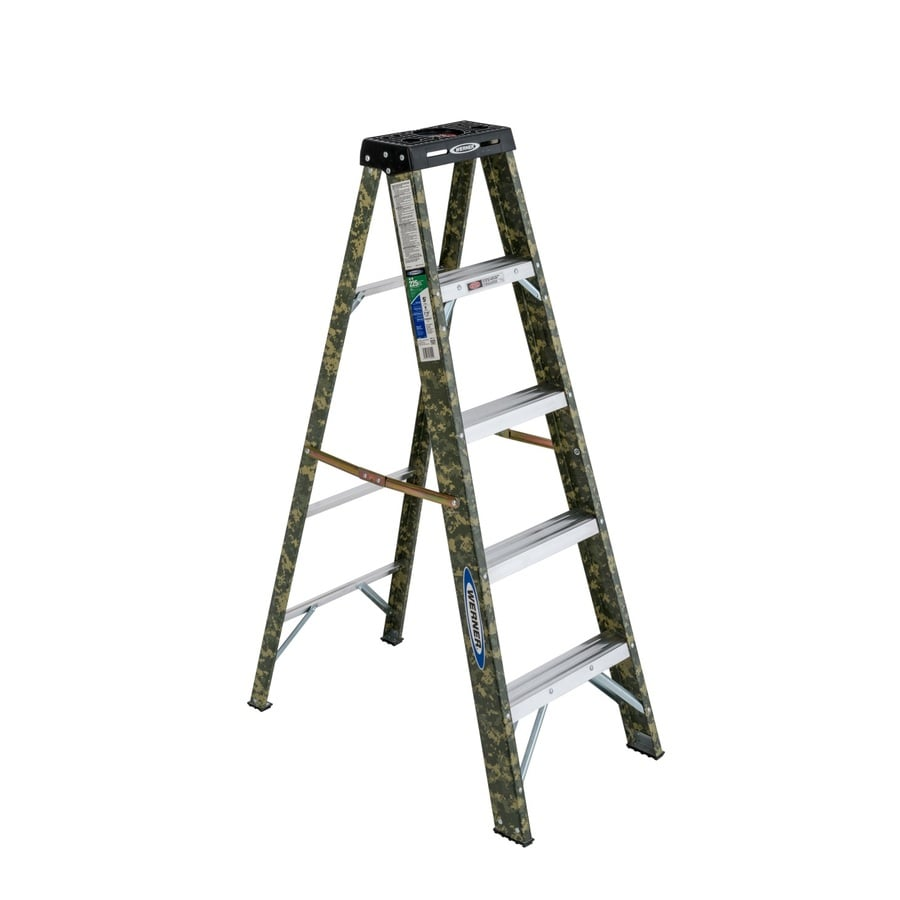 Werner 5-ft Fiberglass Type 2 - 225 Lbs. Digital Camo Step Ladder